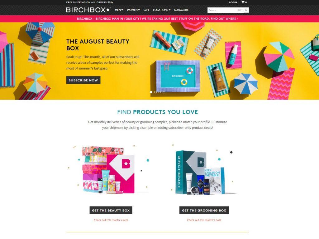 Birchbox Screenshot