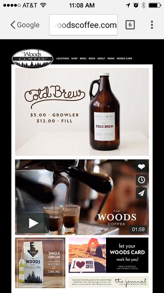 Woods Coffee mobile