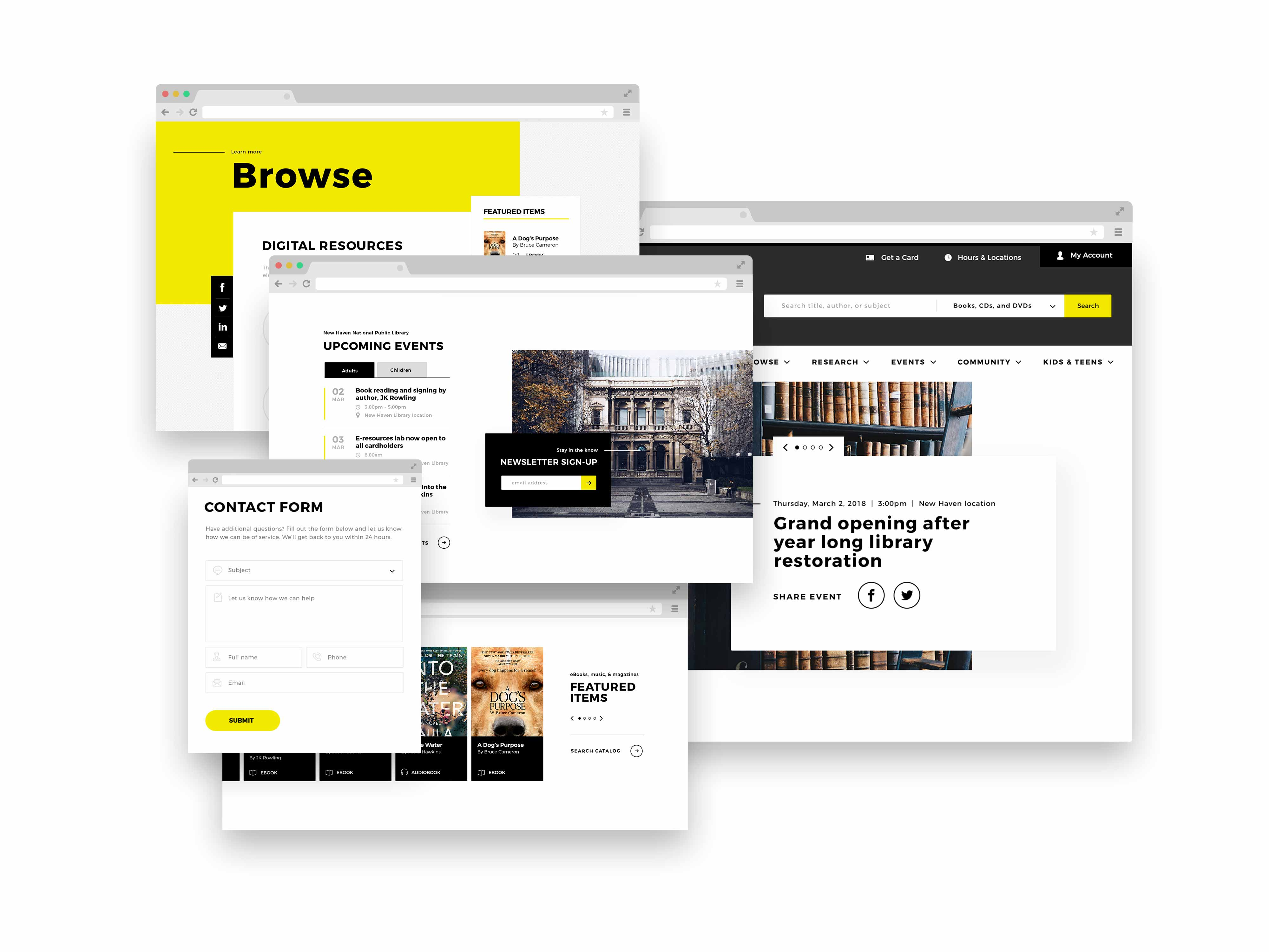 Features & Functionality for Library Websites